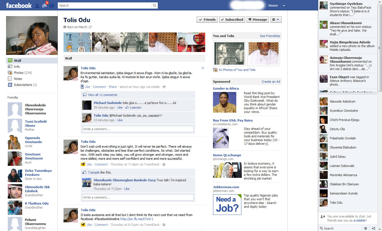 Old Facebook Wall Old facebook: click to enlarge